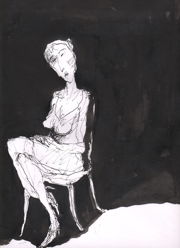 Dessin à l'encre On-chair 12